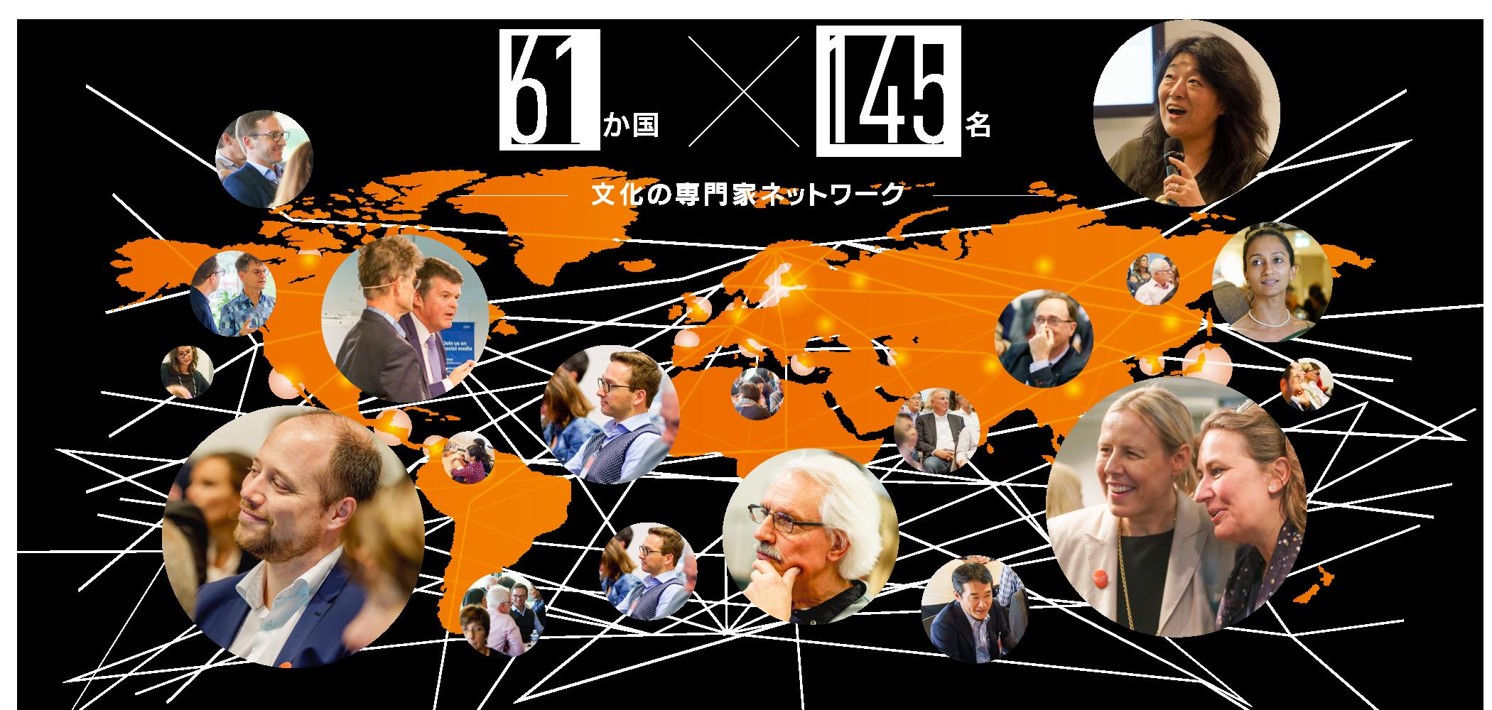 40か国×100名 文化の専門家ネットワーク