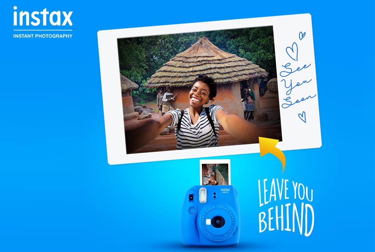 キャンペーンは「Leave youbehind=あなたを(チェキで)置いていこう」のコンセプトフレーズに基づいて展開された。