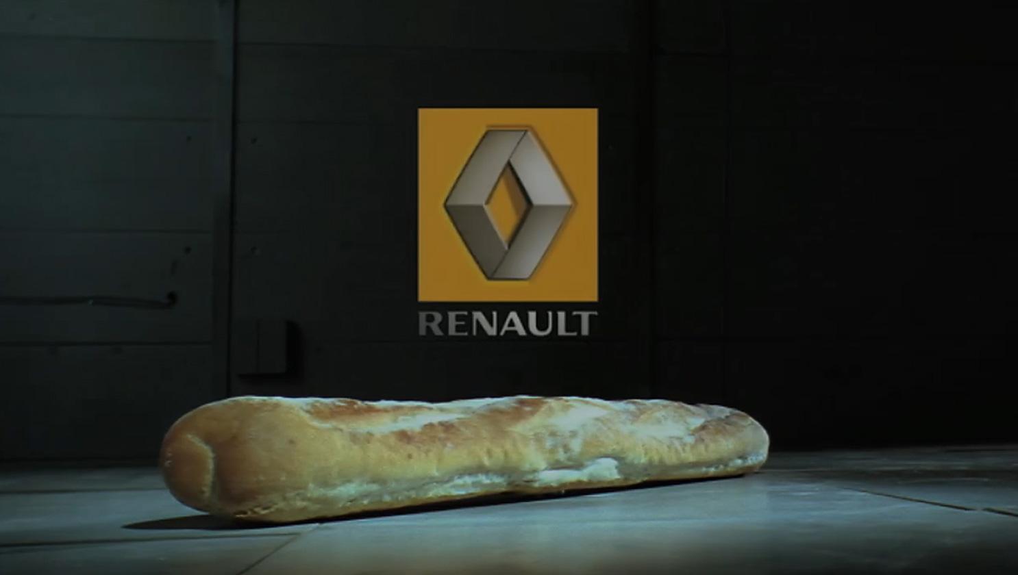 車が登場しないルノーの「衝突実験」― 比喩表現で巧みに比較広告を想起させる