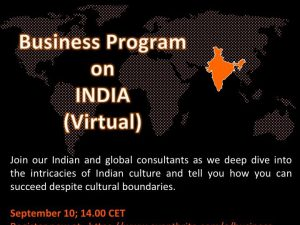 無料ウェビナー Business Program on India (Virtual): India's people, market and companies
