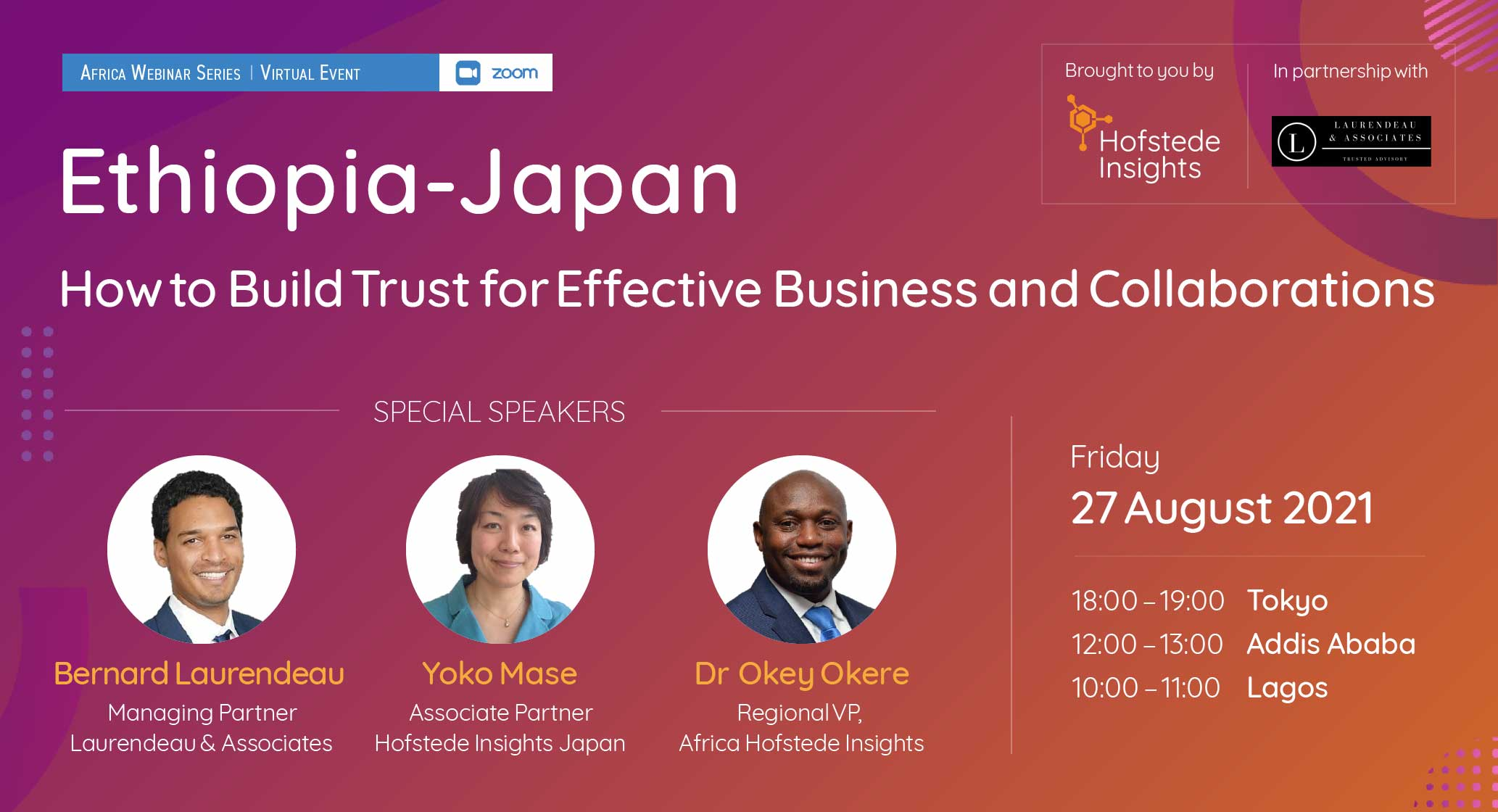 Ethiopia-Japan: How to Build Trust for Effective Business and Collaborations